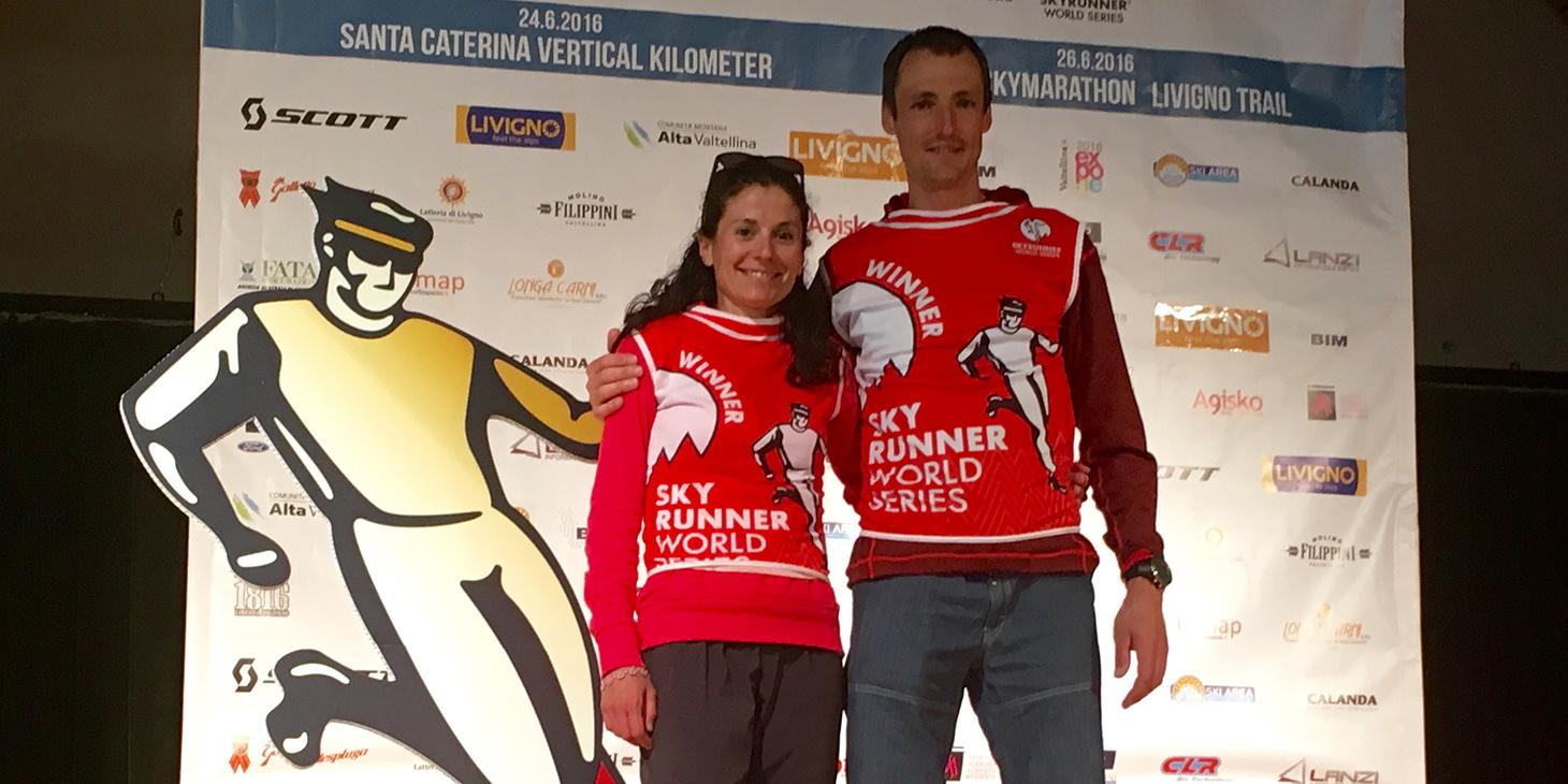 Livigno SkyMarathon winners, Elisa Desco and Tadei Pivk. © Immagine di Alessandro Tomiello