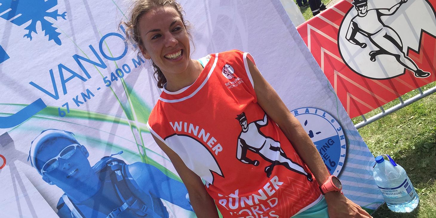 Anne-Lise Rousset, High Trail Vanoise winner. © SWS