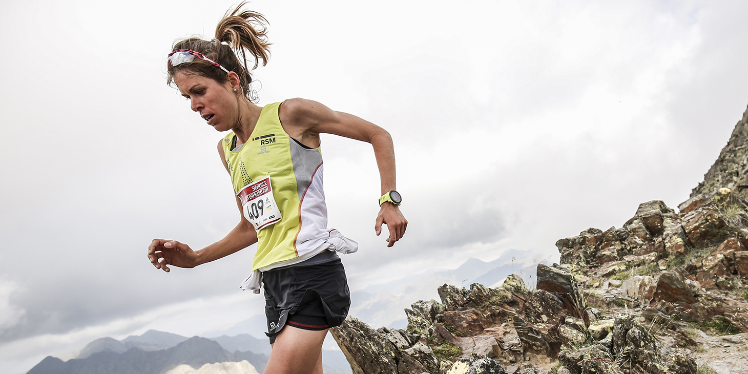 Laura Orgué, race winner, record holder, SkyRace Comapedrosa. ©iancorless.com