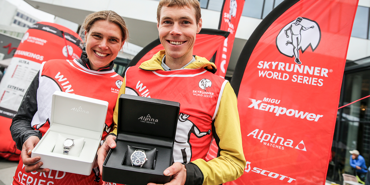 Alpina Watches Extreme Series winners Jasmin Paris and Tom Owens. ©iancorless.com /SWS