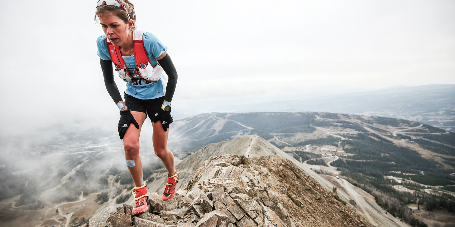 Laura Orgué summiting Lone Peak in third. ©iancorless.com / SWS