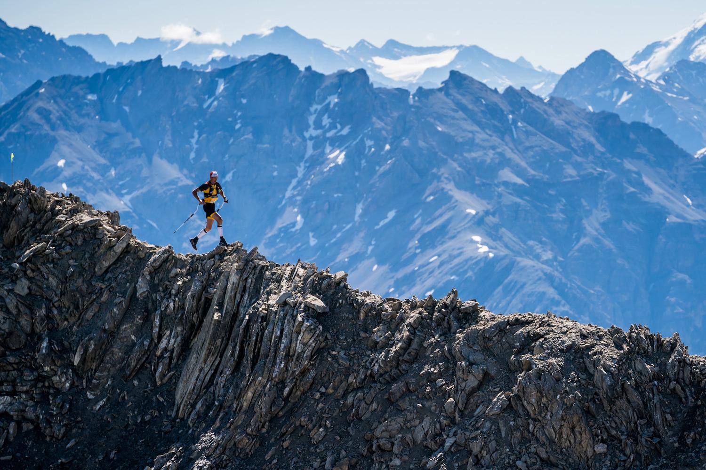 Winner Tadei Pivk, ridge running at Livigno SkyMarathon, 3rd Sky Classic. ©iancorless.com / SWS