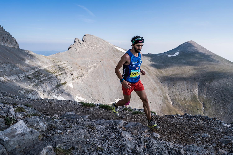 Aritz Egea, race winner, record holder and ranking leader, Olympus Marathon. ©iancorless.com SWS