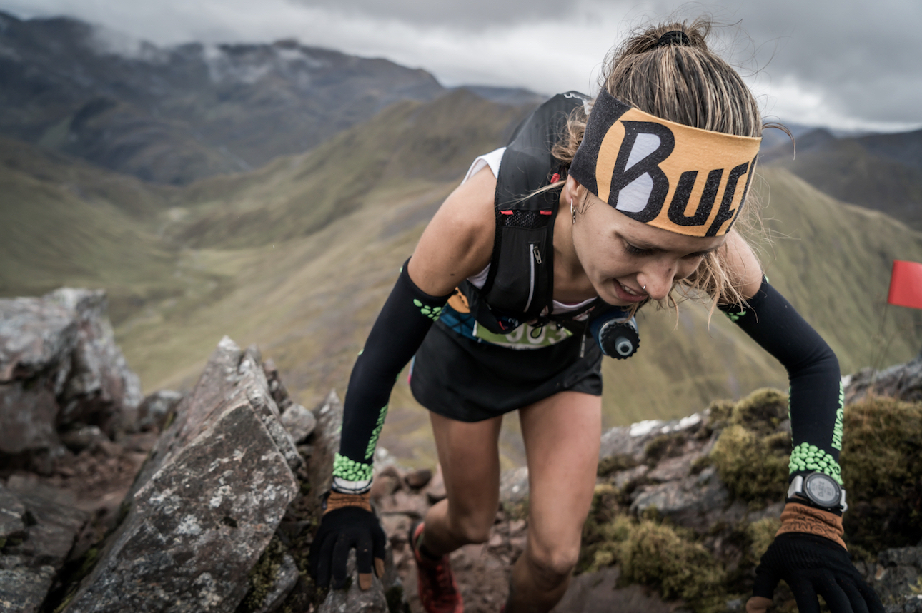 Sheila Avilés, a close second in the Salomon Ring of Steall Skyrace. ©iancorless.com / SWS
