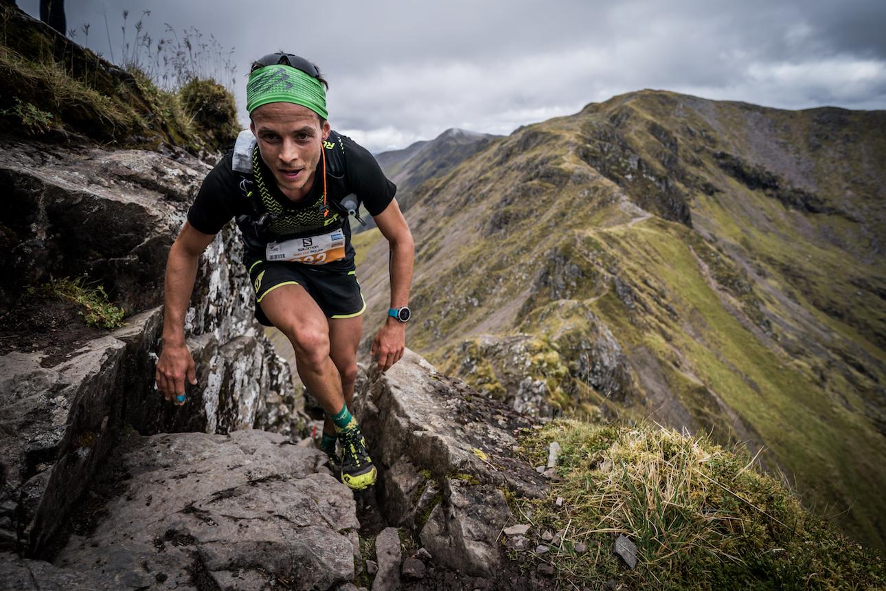 Alexis Sevennec, third, ridge running. ©iancorless.com / SWS