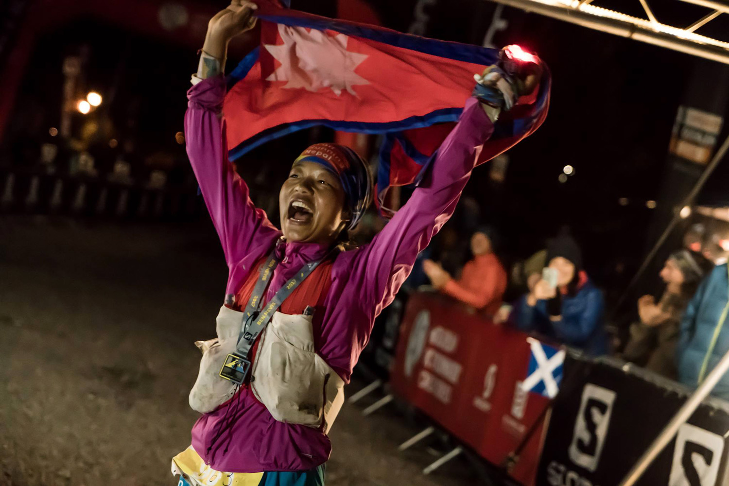 Nepali Mira Rai - an incredible victory, fifth overall in the Salomon Ben Nevis Ultra. ©iancorless.com / SWS