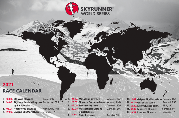 2021 Skyrunner World Series Calendar